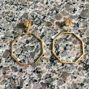 Liz Claiborne Octagon Earrings